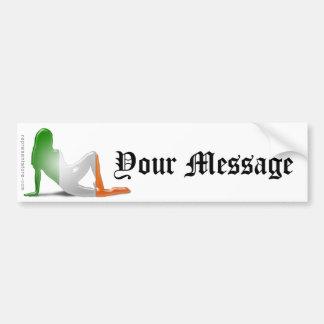 Drapeau irlandais de silhouette de fille autocollants pour voiture
