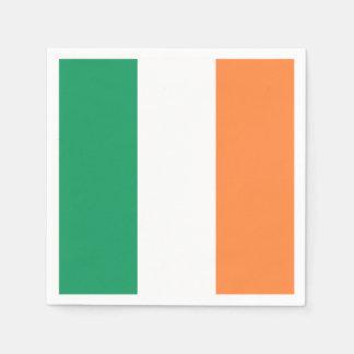 Drapeau irlandais : Partie tricolore du jour de Serviettes Jetables
