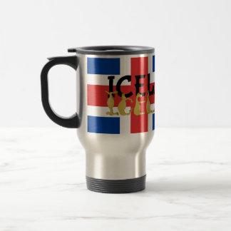 Drapeau islandais du cheval   de l'Islande Mug De Voyage
