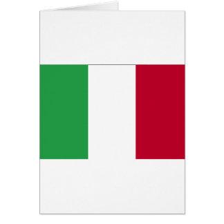 DRAPEAU ITALIEN CARTE DE VŒUX