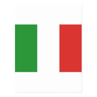 Drapeau italien carte postale