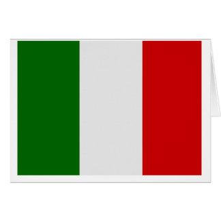 Drapeau italien cartes de vœux