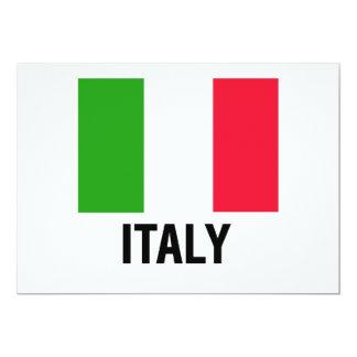 DRAPEAU ITALIEN CARTON D'INVITATION  12,7 CM X 17,78 CM