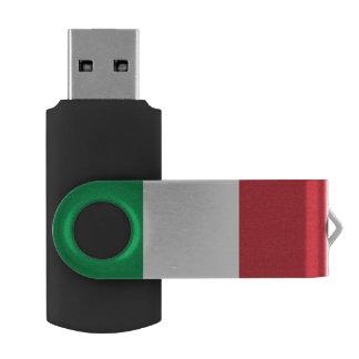 Drapeau italien clé USB 2.0 swivel