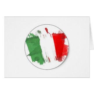Drapeau italien de mode cartes de vœux