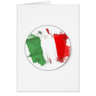 Drapeau italien de mode carte de vœux