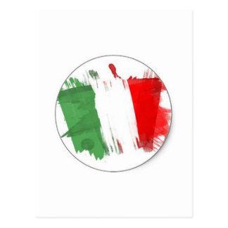 Drapeau italien de mode carte postale