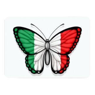 Drapeau italien de papillon faire-part personnalisés
