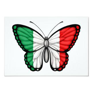 Drapeau italien de papillon faire-parts