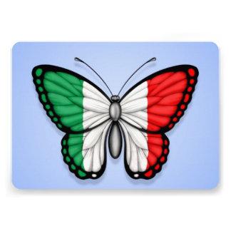 Drapeau italien de papillon sur le bleu faire-parts