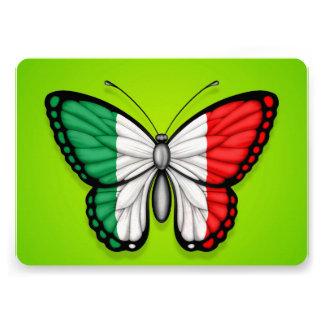 Drapeau italien de papillon sur le vert bristols