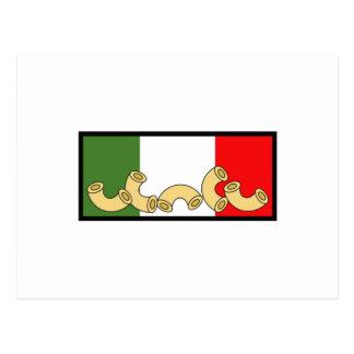 DRAPEAU ITALIEN DE PÂTES CARTE POSTALE