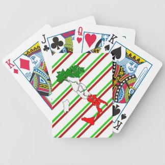 Drapeau italien de rayures jeu de cartes