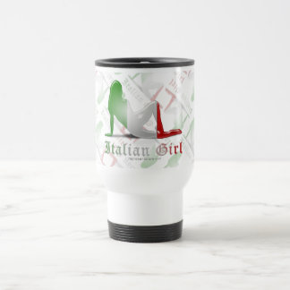 Drapeau italien de silhouette de fille tasses
