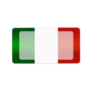 Drapeau italien dépouillé moderne étiquettes d'adresse