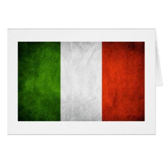 Drapeau italien drapeau de l Italie Carte De Vœux