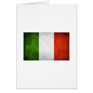 Drapeau italien, drapeau de l'Italie Carte De Vœux