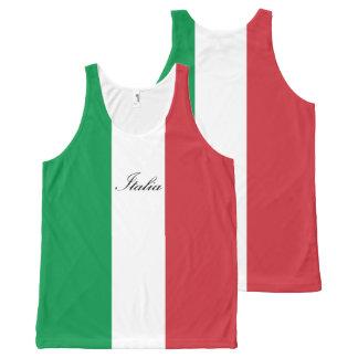 Drapeau italien - drapeau de l'Italie - l'Italie Débardeur Tout-imprimé