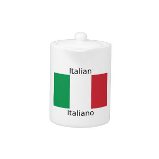 Drapeau italien et conception de langue de