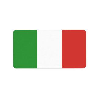 Drapeau italien étiquette d'adresse