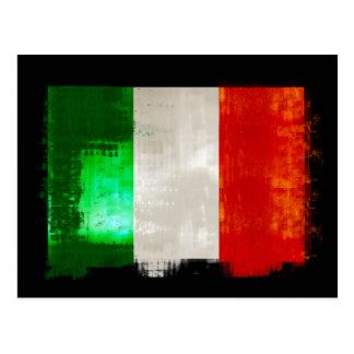 Drapeau italien grunge style vintage de l Italie d Cartes Postales