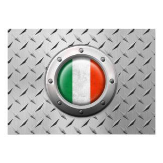 Drapeau italien industriel avec le graphique en ac cartons d'invitation
