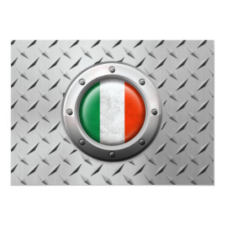 Drapeau italien industriel avec le graphique en cartons d'invitation