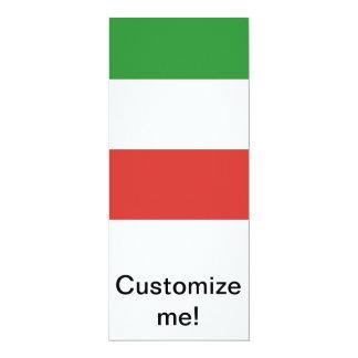 Drapeau italien faire-part personnalisables