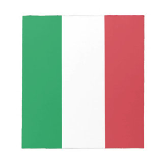 Drapeau italien patriotique bloc-note