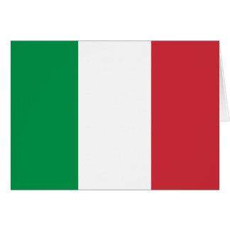 Drapeau italien patriotique carte de vœux