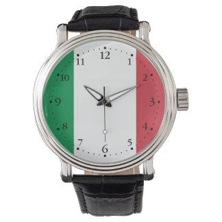 Drapeau italien patriotique montre