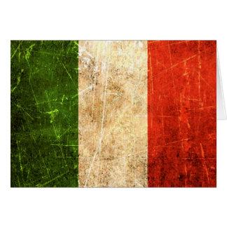 Drapeau italien vintage rayé et porté cartes