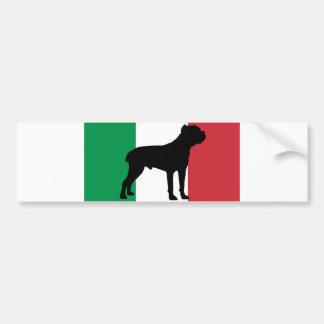 drapeau Italy.png de silhouette de corso de canne Autocollant De Voiture