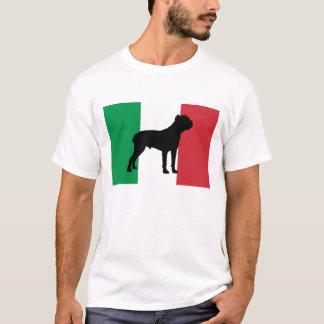 drapeau Italy.png de silhouette de corso de canne T-shirt