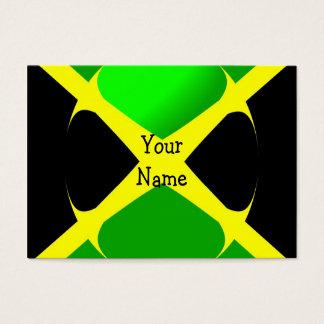 Drapeau jamaïcain avec le carte de visite de bulle