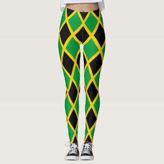 Drapeau jamaïcain carrelé leggings