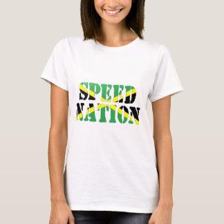 Drapeau jamaïcain de nation de vitesse t-shirt