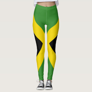 Drapeau jamaïcain traînant partout conception leggings