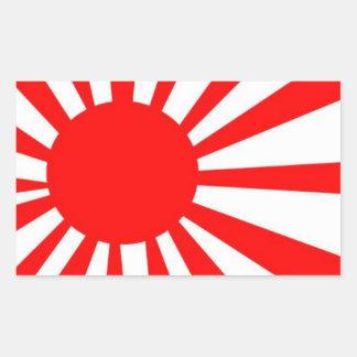 Drapeau japonais de Soleil Levant Sticker Rectangulaire