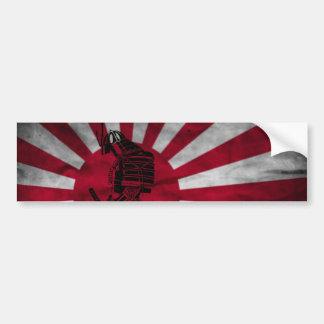 Drapeau japonais samouraï autocollant de voiture