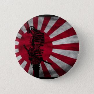 Drapeau japonais samouraï badge