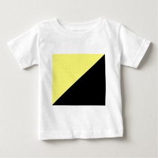 Drapeau jaune et noir de capitalisme d'Anarcho T-shirt Pour Bébé