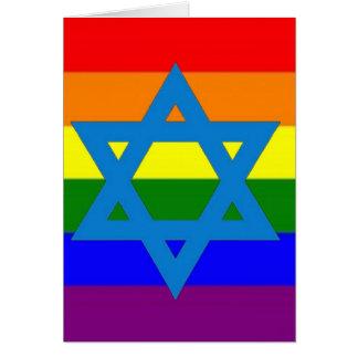 Drapeau juif de gay pride carte de vœux