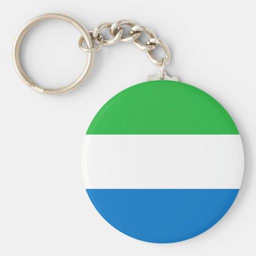 Drapeau Keychain de Sierra Leone Porte-clefs