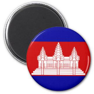 Drapeau KH du Cambodge Magnets Pour Réfrigérateur