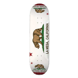 Drapeau La Mesa d'état de la Californie Skateboards Personnalisables