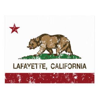Drapeau Lafayette d'état de la Californie Carte Postale