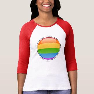 Drapeau lesbien gai de bulle de fierté t-shirt