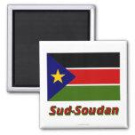 Drapeau Lessive-Soudan Magnets Pour Réfrigérateur