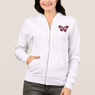 Drapeau letton de papillon veste à capuche